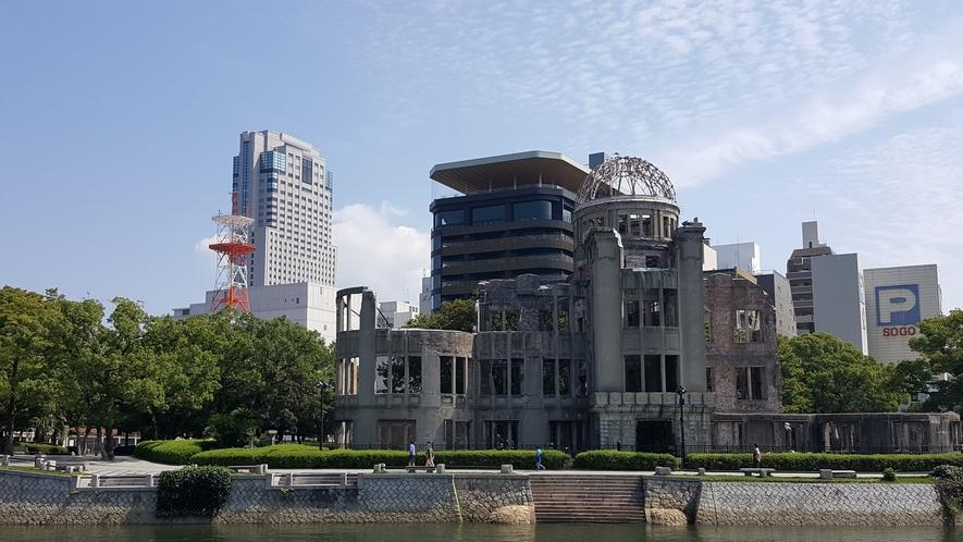 リーガロイヤルホテル・おりづるタワー・原爆ドーム