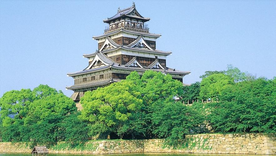 広島城までホテルより徒歩約5分