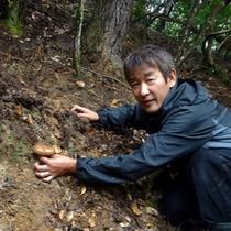 地物の松茸を、主人自らが採りに行くからこそできる「 スペシャル価格でご提供 」します。