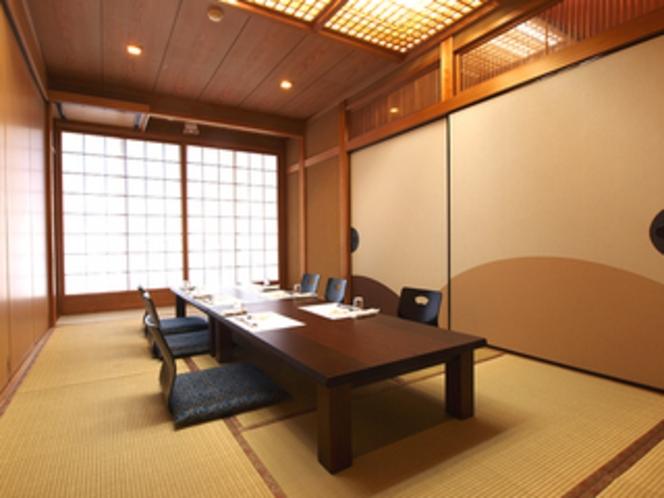 お食事は、専用の個室でごゆっくりお楽しみください。