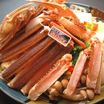 お鍋用のカニは食べ易いように、ひと手間加えて。