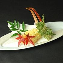 活かにの天ぷら一例