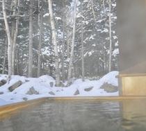 客室露天風呂・冬期