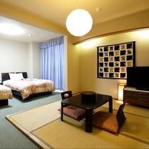 七宝の間:客室露天風呂付のプライベート感あふれる和洋室のお部屋