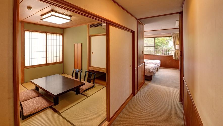 *【和洋室(和室6畳+ベッドルーム)】2階