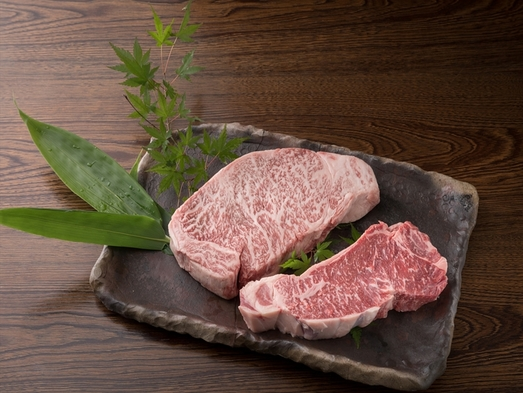 【料理ランクアップ夕食付】極上ステーキ堪能〜グルメな湯治旅プラン