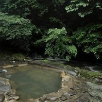 【露天風呂・川湯】自然と融合したお風呂です