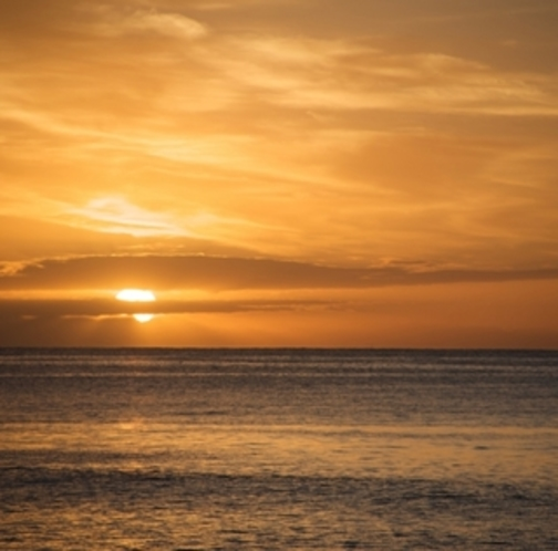 太平洋から昇る朝日