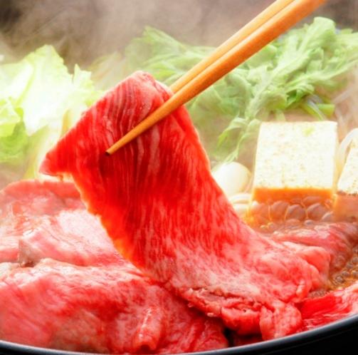 旨味たっぷり白老牛のすき焼き