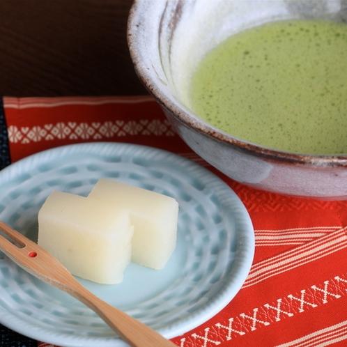 ウェルカム菓子&抹茶