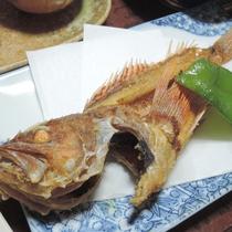 【食事一例】旬魚の唐揚げ。季節の「旨い」をお召し上がり下さい。