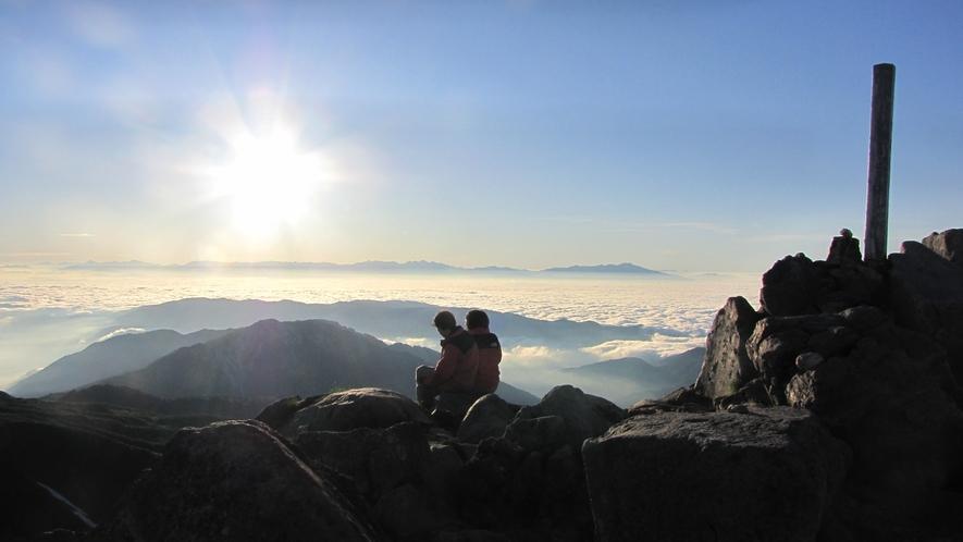 白山山頂からの眺め
