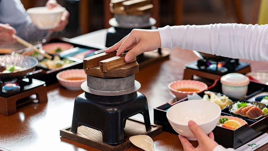 【夕食】地元食材をふんだんに使用した『喜連川和膳』