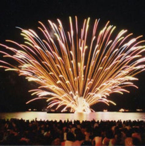 生地浜の海上花火