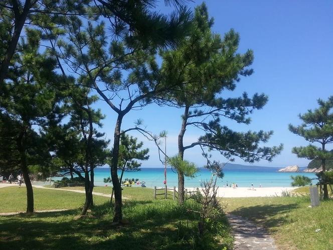福江島ナンバー1のビーチ「高浜ビーチ」三国から車で40分