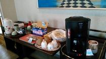 コーヒーは無料サービスです。