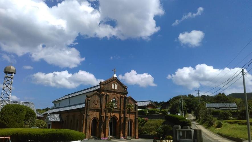 三国から車で30分の楠原教会です。
