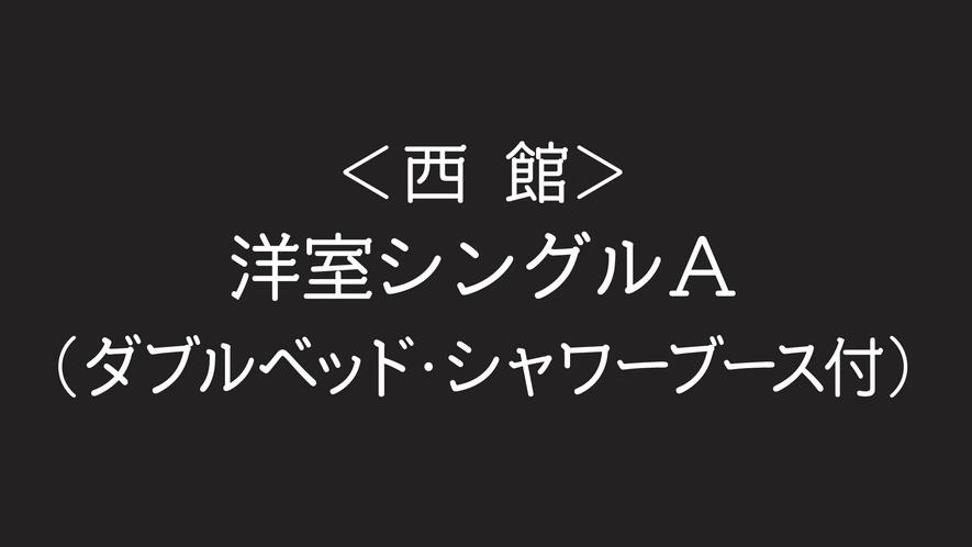 〈西館〉洋室シングルA【ダブルベッド/シャワーブース付】
