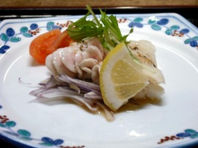 寒鱈とタツ(白子)のカルパッチョ