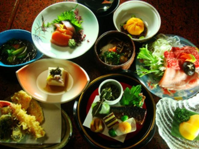 2013年12月雅の舞プランの料理の一例