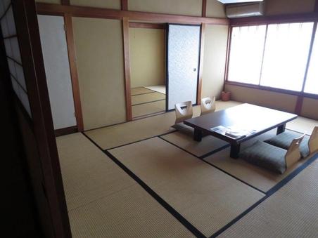 【AL】松川を望む和室 10畳間+4畳 ※トイレ洗面台付