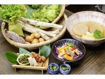 自家農園と契約農家で採れた新鮮な野菜