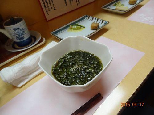 お薦めの徳島産のモズク酢