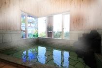 貸切無料の天然温泉内風呂