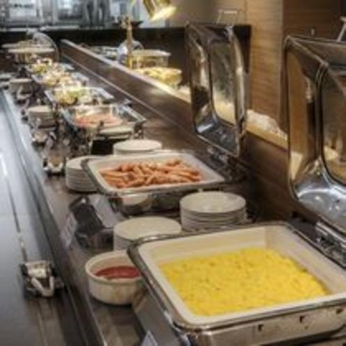 朝食ブッフェライン
