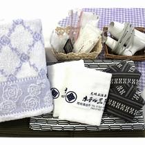 *【アメニティ一例】浴衣、タオル、歯ブラシ、くし、カミソリ等の基本セット。