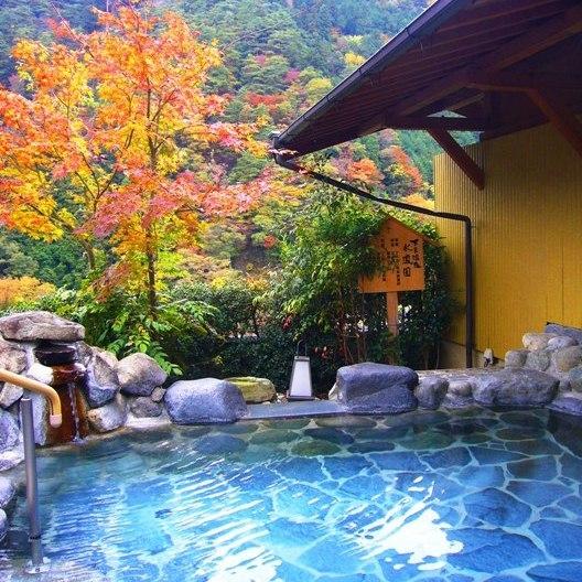 紅葉の露天風呂 姫の湯