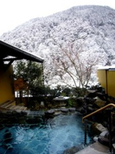雪景色 殿の湯