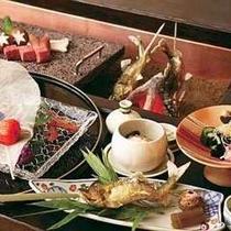 悠佳亭の囲炉裏懐石料理