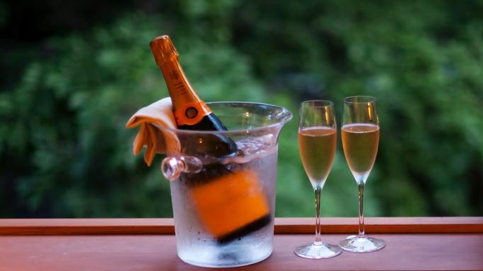 スペシャルな祝いを【ケーキ、シャンパン、お花付】