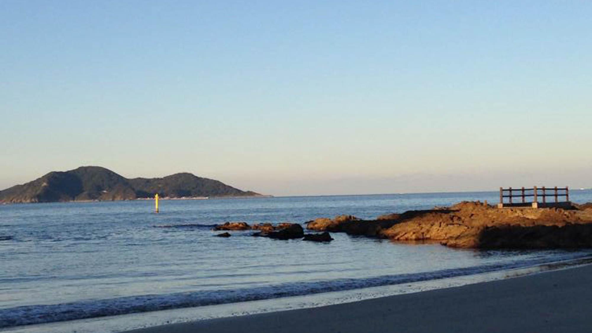 海岸(夕暮れ)絶景の景色を見ながらのウォーキングをお愉しみくださいませ♪