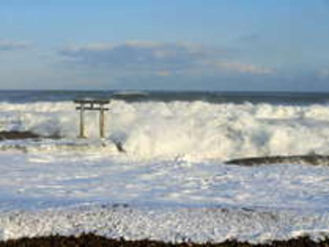大洗海岸の鳥居