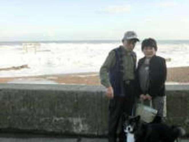 当宿の主人と女将と愛犬