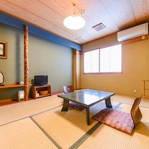 *【和室6畳/一例】スタンダードな和室。畳の部屋で足を伸ばしてごゆっくりお寛ぎください。