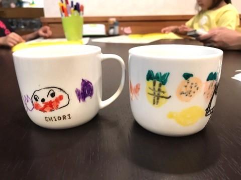 お絵描きマグカップ