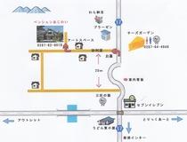 宿までの地図