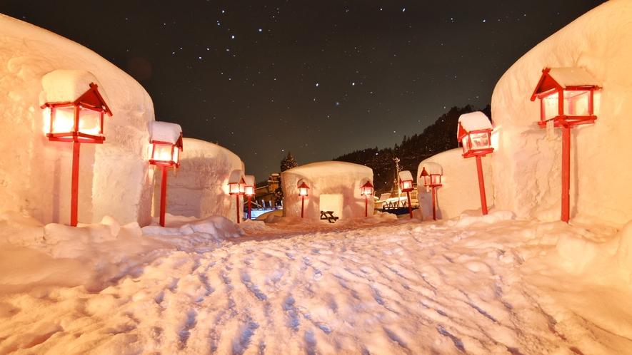 *【周辺観光スポット】小野川温泉かまくら村。冬ならではの風情に溢れています♪