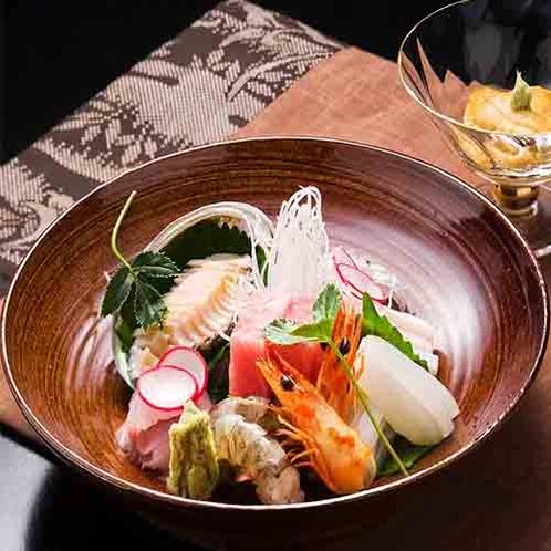 【メイン料理が選べる、チョイス懐石】3つの中から選べるメイン料理『旬魚のお刺身』*イメージ