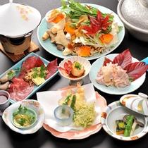 お夕食の会席料理一例