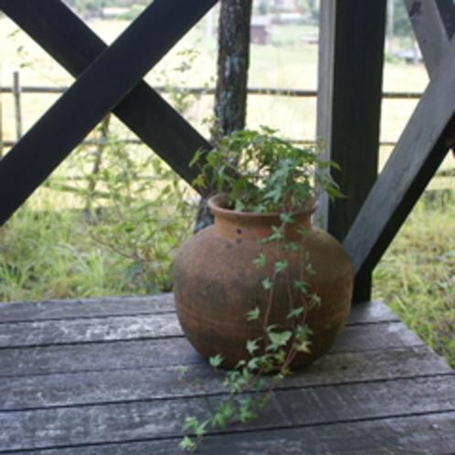 テラス花瓶