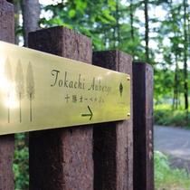 十勝オーベルジュは、落葉松の森の中に、3棟のコテージと専用のレストラン棟からなります。