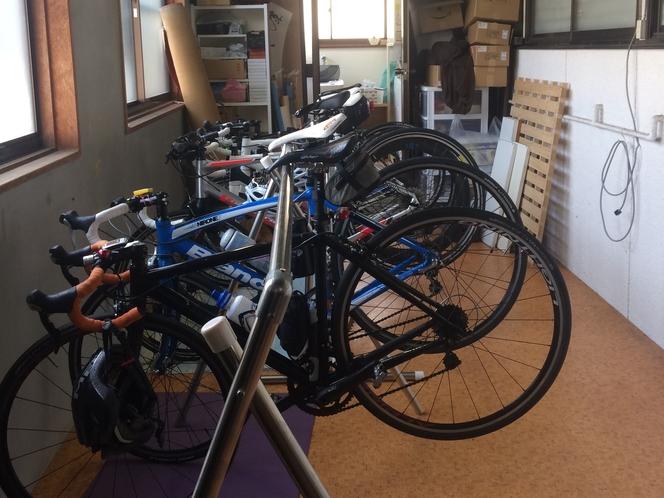 自転車の保管部屋