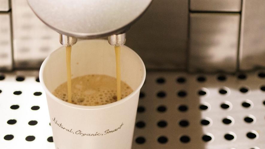 朝食は挽き立てコーヒーでほっと一息♪