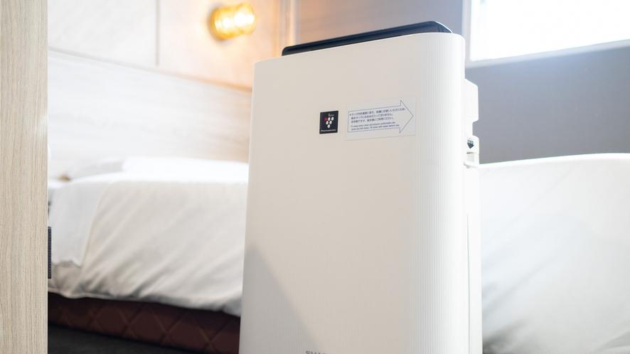加湿器付きの空気清浄機で空気に潤いを♪