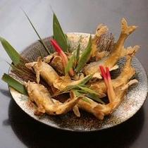 別注料理:鮎の塩焼き