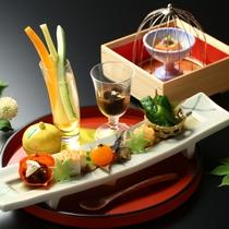 ■創作会席コース 前菜一例